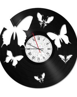 ceas vinil fluturi