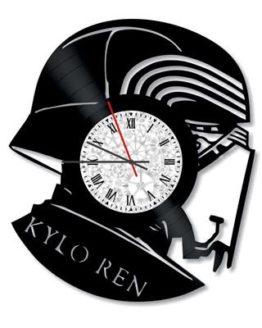 ceas decorativ de perete din vinil star wars kylo ren
