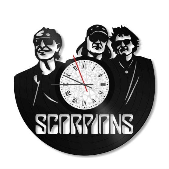 ceas decorativ de perete din vinil scorpions